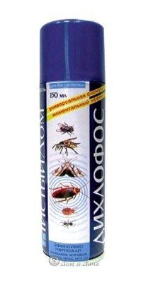 Аэрозоль Дихлофос от летающих и ползающих насекомых 150 мл Чистый Дом