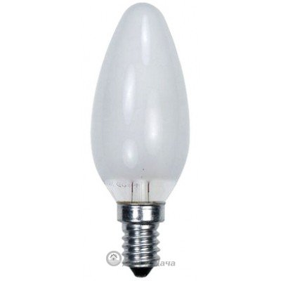 Лампа накаливания (свеча) матовая 40Вт E14 Космос
