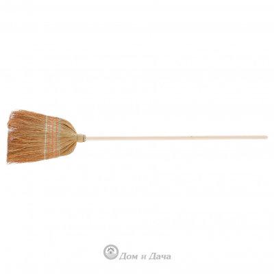Метла натуральная, деревянный черенок Россия