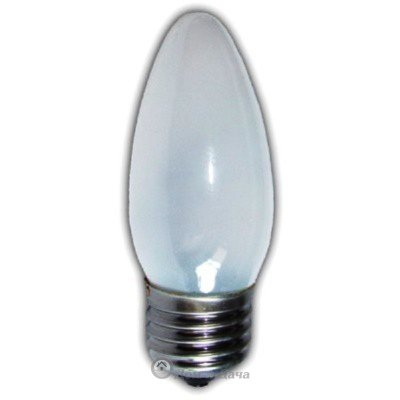 Лампа накаливания (свеча) матовая 40Вт E27 Космос