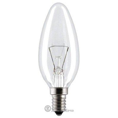 Лампа накаливания (свеча) прозрачная 40Вт E14 Космос