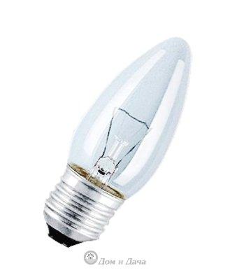 Лампа накаливания (свеча) прозрачная 40Вт E27 Космос