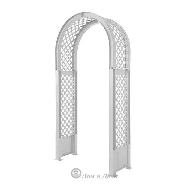 Садовая арка KHW 100х207см с штырями для установки, белый