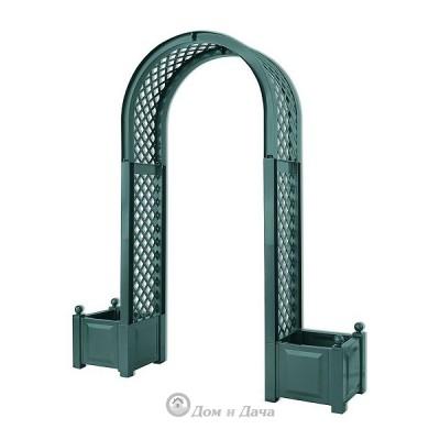 Садовая арка KHW 174х207см с ящиками для цветов 2х44л, зеленый