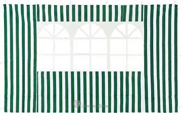 Стенка зеленая с окном для садового тента 4110