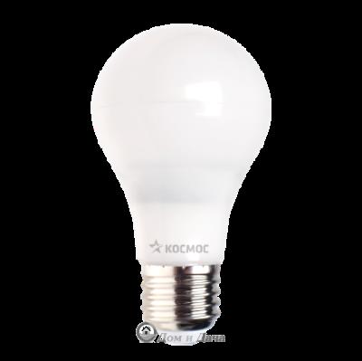 Лампа светодиодная. LED 5Вт А55 классик/пластик Е27 3000К Экономка Космос