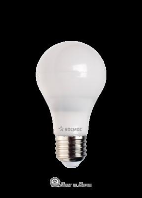 Лампа светодиодная. LED 7Вт А60 классик/пластик Е27 3000К Экономка Космос