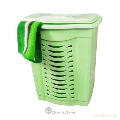 Корзина для белья 60л. (зелёный)