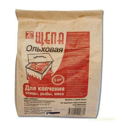 """Щепа """"Ольха"""" для копчения (3 дм3)"""