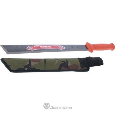 Мачете туристическое 490 мм, пластиковая рукоятка, жесткий чехол (АРТИ) Россия