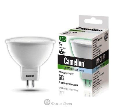 Лампа светодиодная LED5-S108/845/GU5.3 JCDR 5Вт 220В Camelion 12042