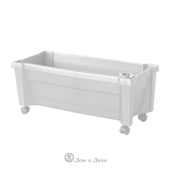 Ящик для цветов KHW Калипсо 42л, белый