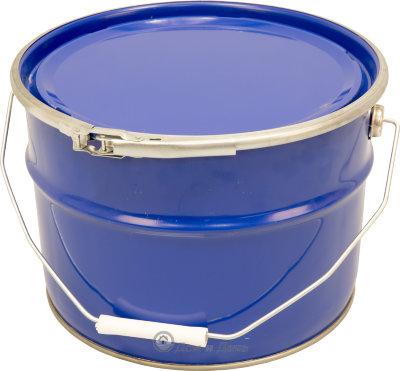 Ведро металлическое 10 л крышка-обруч синее