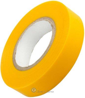 Изолента ОНЛАЙТ ПВХ, 15 мм, (рулон 20 м),   желтая