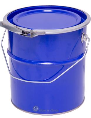 Ведро металлическое 3 л синий цвет крышка-обруч