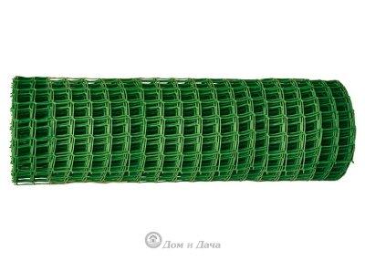 Решетка заборная в рулоне, 1х20 м, ячейка 15х15 мм, пластиковая, зеленая Россия
