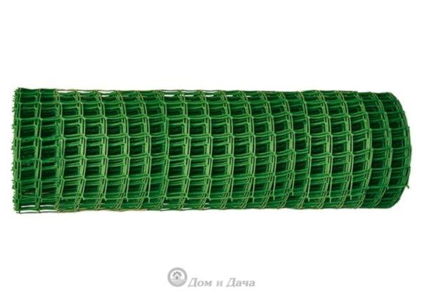 Решетка заборная в рулоне, 1х20 м, ячейка 15х15 мм, пластиковая, зеленая Россия 64512