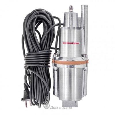 Вибрационный насос KVP300-10, 1080 л/ч, подъем 70 м, кабель 10 метров Kronwerk