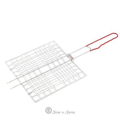 Решетка-гриль 230 x 230 мм, хромированная, PVC рукоятка Sparta