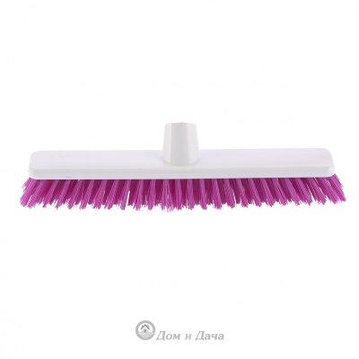 """Щетка пластмассовая """"Shrober"""" для чистки ковров 270 мм, розовая щетина Elfe"""