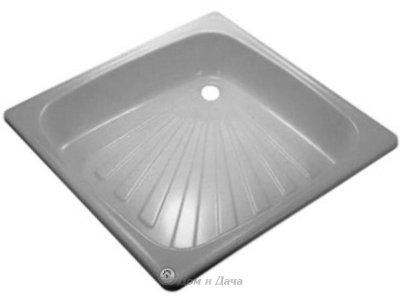 Поддон стальной эмалированный квадратный 700*700*160