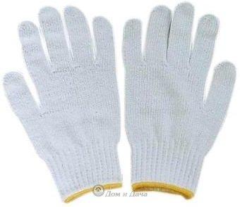 Перчатки ХБ - 3/07 ПВХ Белые (5 пар)