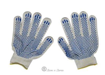 Перчатки ХБ - 3/13 ПВХ Белые (5 пар)