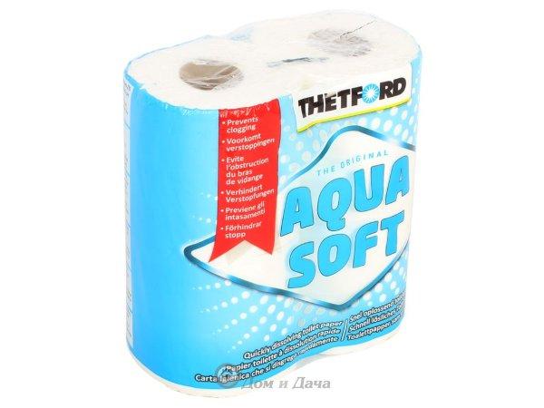 Туалетная бумага Аква софт 4 рулона.