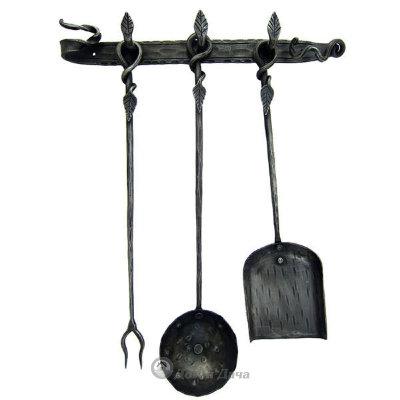 Набор для камина кованый (крепление к стене) HC-382