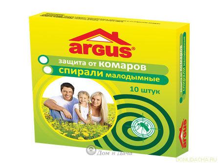 Спирали малодымные ARGUS (уп/10шт)