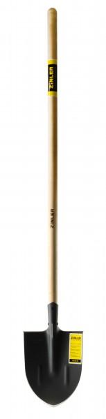 Лопата копальная остроконечная с деревянным черенком 1200 мм ZINLER