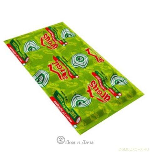 Пластины от комаров ARGUS (10шт) зеленые, без запаха