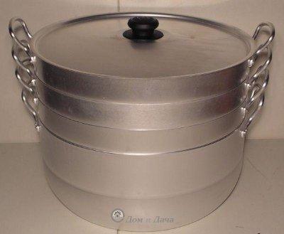 Манты-казан (Мантоварка ) 13.0 л. с 4 сетками, 4,8 кг. Сплав А5 (18134)