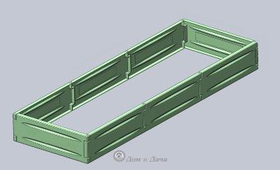 Ограждения для грядки Nano-Garden 180*60см, комплект