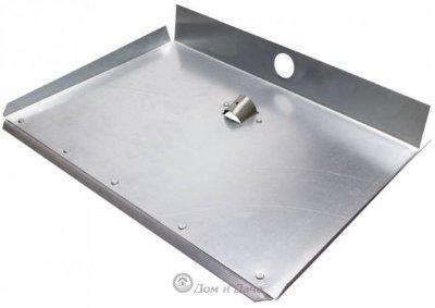 Лопата снеговая 3-х бортная алюминиевая с планкой S=1,5 мм 500х375 D-40