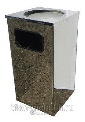 Квадратная урна для мусора Квадро-15