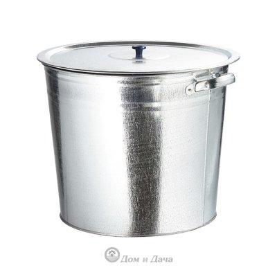 Бак для воды оцинкованный с крышкой 32 л, без крана Россия