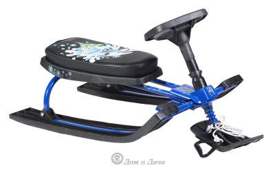 Снегокат с рисунком «Snow Rider» синий
